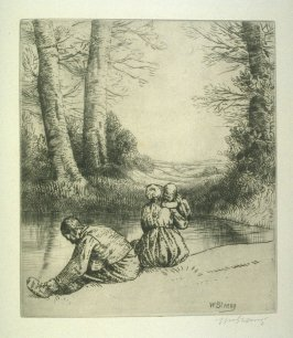By the River, plate at p.11 in the book, Death and the Ploughman's Wife (London: Lawrence and Bullen, 1894)