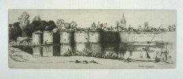 The Ramparts of Ypres, plate at p. 7, in the book, Western Flanders (London: at the Sign of the Unicorn, 1899)