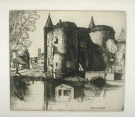 The Quay of the Rosary, Bruges, plate at p. 31, in the book, Western Flanders (London: at the Sign of the Unicorn, 1899)