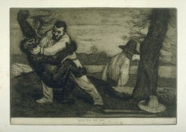 Bertram and the Bimi, plate 7 in the book, A Series of thirty Etchings … illustrating Subjects from the Writings of Rudyard Kipling (London: Macmillan, 1901)