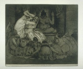 The Incarnation of Krishna Mulvaney, plate 9 in the book, A Series of thirty Etchings … illustrating Subjects from the Writings of Rudyard Kipling (London: Macmillan, 1901)