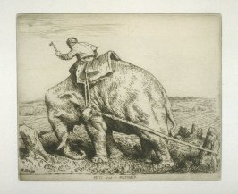 Moti Guj--Mutineer, plate 11 in the book, A Series of thirty Etchings … illustrating Subjects from the Writings of Rudyard Kipling (London: Macmillan, 1901)