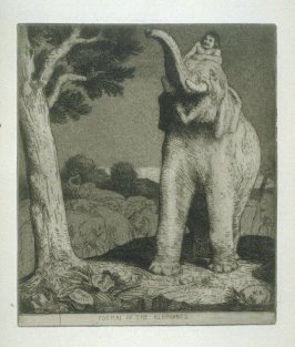 Toomai of the Elephants, plate 14 in the book, A Series of thirty Etchings … illustrating Subjects from the Writings of Rudyard Kipling (London: Macmillan, 1901)