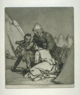 William the Conqueror, plate 17 in the book, A Series of thirty Etchings … illustrating Subjects from the Writings of Rudyard Kipling (London: Macmillan, 1901)