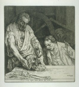 The Man who would be King II, plate 20 in the book, A Series of thirty Etchings … illustrating Subjects from the Writings of Rudyard Kipling (London: Macmillan, 1901)