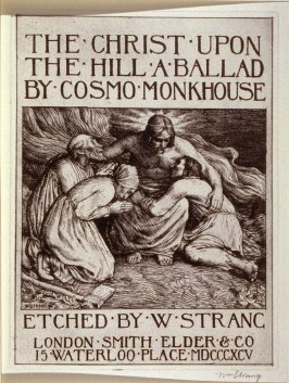 pictorial title page for the book, The Christ upon the Hill (London: Smith, Elder, 1895)