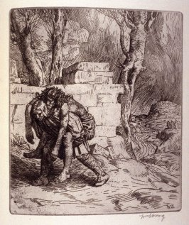untitled, plate at p. 15 in the book, The Christ upon the Hill (London: Smith, Elder, 1895)