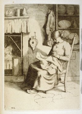 Mercy at Her Work, opoosite page 272 and thirteenth plate in the book The Pilgrim's Progress by John Bunyan (London: John C. Nimmo, 1895)