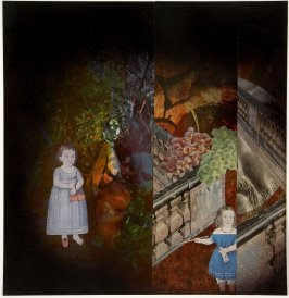 Untitled (Victorian Girls, Grapes, Balustrade)