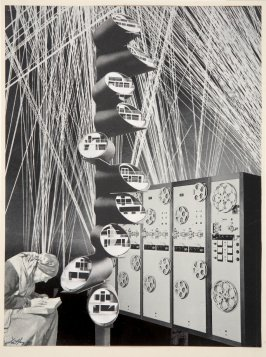 Untitled (Mainframe Computer, Woman Reading)