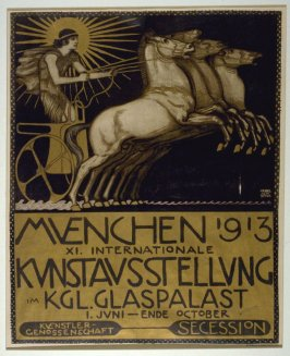 Poster for the XI Internationale Kunstausstellung, Glaspalast, Munich