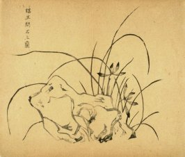 """""""Orchids Above a Rock"""", No.13 from the Volume on Orchids - from: The Treatise on Calligraphy and Painting of the Ten Bamboo Studio"""