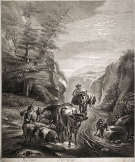 Herders and Livestock on a Road