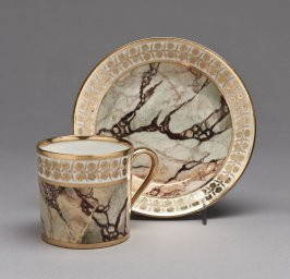 Cup and saucer (gobelet litron et soucoupe) in faux marble
