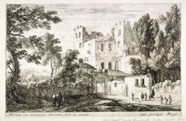 Castle with figures in foreground