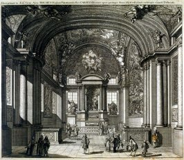 Church Interior, from Suecia Antiqua et Hodierna (Ancient and Modern Sweden)