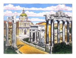 The Forum Romanum - looking towards the Cathedral, Rome
