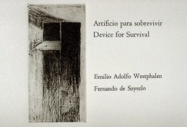 Title page vignette in the book Artificio para sobrevivir - Device for Survival by Emilio Adolfo Westphalen (San Diego: Brighton Press, 1992)