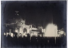 Manufacturers' Building and Electric Fountain at Night