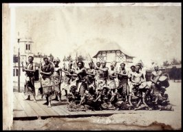 South Sea Islanders in War Clothes