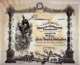 Diploma of Honor from California Midwinter International Exposition