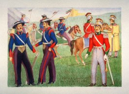 Mexican Dragoona and their Officers, 1826