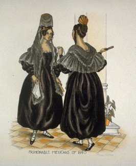 Fashionable Mexican Women of 1840