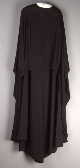 Evening dress with overblouse