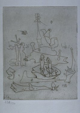 Untitled, illustration 3, in the portfolio Solidarité by Paul Eluard (Paris: G.L.M., 1938)