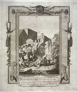 A Representation of the Principal Scenes in the Bloody Irish Massacre Committed on Oct. 23rd 1641...