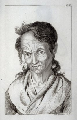 Démonomaniaque (Maniac, Suffering from Fear of Demons), pl. 6 for vol. 1, in the book, Des maladies mentales considérées sous les rapports médical, hygiénique et médico-légal (Mental Illnesses Considered from Medical, Hygienic, and Medico-Legal Aspects)by