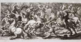 Roman Battle Scene, after Antonio Tempesta (?)