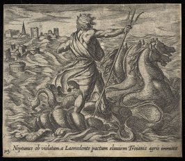 Neptunus ob violatum a Laomedonte pactim eluviem Troianis agris immittit (Neptune Sending a Deluge to Troy), pl. 103 from the series Ovid's Metamorphoses