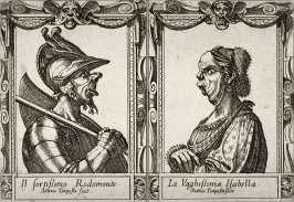 Il Fontissimo Rodomonte and La Vaghissima Isabella, from the series based on Ariosto's Orlando Furioso