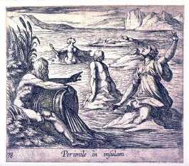 Perimile in insulam (Perimele), pl. 78 from the series Ovid's Metamorphoses
