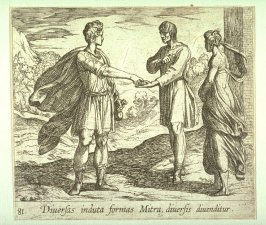 Diversas induta formas Mitra diversis divenditur (Erysicthon Selling his Daughter), pl. 81 from the series Ovid's Metamorphoses
