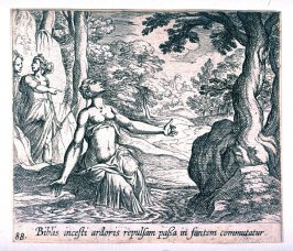 Biblis incesti ardoris repulsam passa in fontem commutatur (Byblis Changed into a Stream), pl. 88 from the series Ovid's Metamorphoses