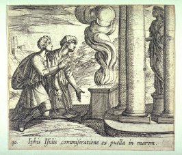 Iphis Isidis commiseratione ex puella in marem (Telethusa Praying to Change Iphis to a Man), pl. 90 from the series Ovid's Metamorphoses