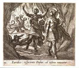 Euridice (respiciente Orpheo) ad inferos revocatur (Orpheus Looking Back at Eurydice), pl. 91 from the series Ovid's Metamorphoses