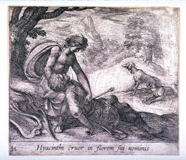 Hyacinthi cruor in florem sui nominis (The Death of Hyacinth), pl.95 from the series Ovid's Metamorphoses