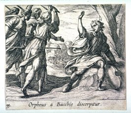 Orpheus a Bacchis discerpitur (The Death of Orpheus), pl. 99 from the series Ovid's Metamorphoses