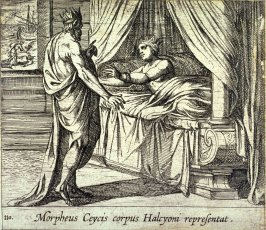 Morpheus Ceycis corpus Halcyoni representat (Morpheus, as Ceyx, Appearing to Alcyone), pl.110 from the series Ovid's Metamorphoses