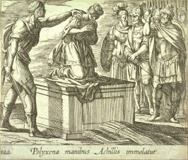 Polyxena manibus Achillis immolatur (The Sacrifice of Polyxena), pl.122 from the series Ovid's Metamorphoses