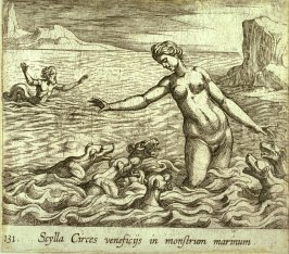 Scylla Circes veneficis in monstrem marinum (Scylla Changed by Circe's Spell), pl.131 from the series Ovid's Metamorphoses