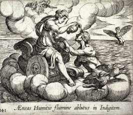 Aeneas Humitio flumine ablutus in Indigitem (The Immortalization of Aeneas), pl.141 from the series Ovid's Metamorphoses