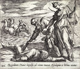 Hyppolitum Dianae impulsu ad vitam revocat Aesculapius et Virbius vocatur (Hippolytus Saved From Death), pl.146 from the series Ovid's Metamorphoses