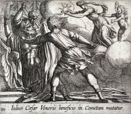Iulius Caesar Veneris beneficio in Cometam mutatur (The Murder of Julius Caesar), pl.150 from the series Ovid's Metamorphoses