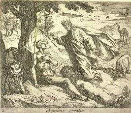 Hominis creatio (The Creation of Man), pl. 2 from the series Ovid's Metamorphoses