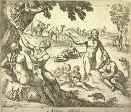 Aetas aurea (The Age of Gold), pl. 3 from the series Ovid's Metamorphoses