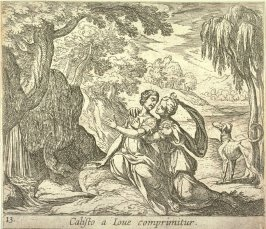 Callisto a Iove comprimitur (Jupiter and Callisto), pl. 13 from the series Ovid's Metamorphoses